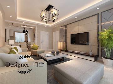 凤凰水城140平现代风格