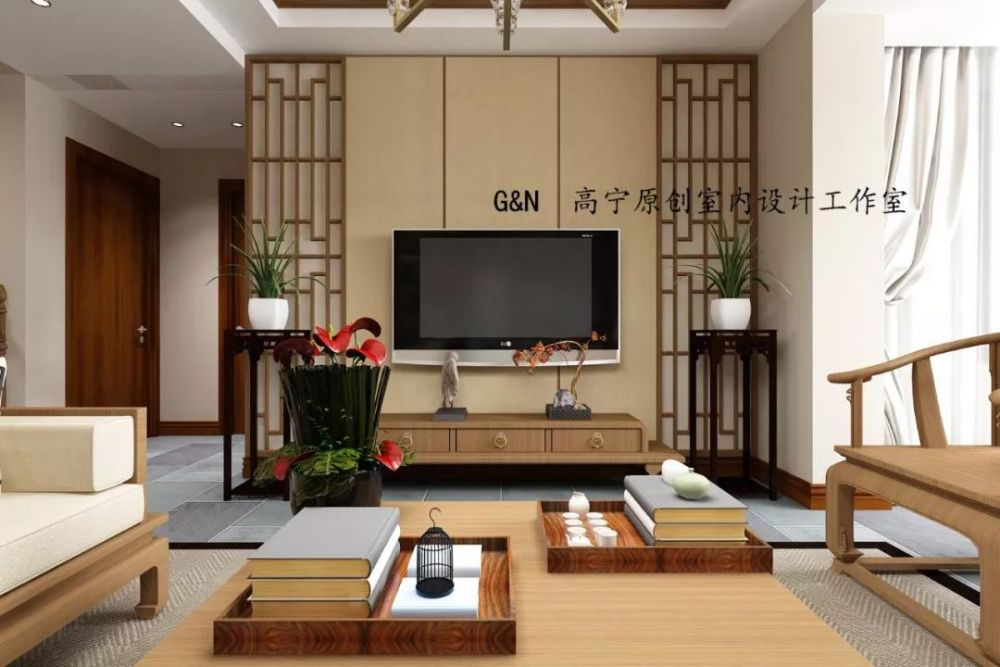 客厅图片来自沈阳百家装饰小姜在百家装饰九州湾景汇185平中式的分享