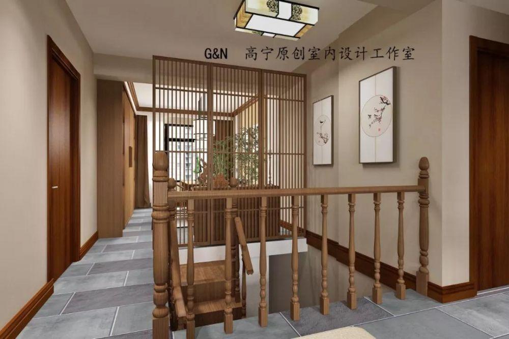 楼梯图片来自沈阳百家装饰小姜在百家装饰九州湾景汇185平中式的分享