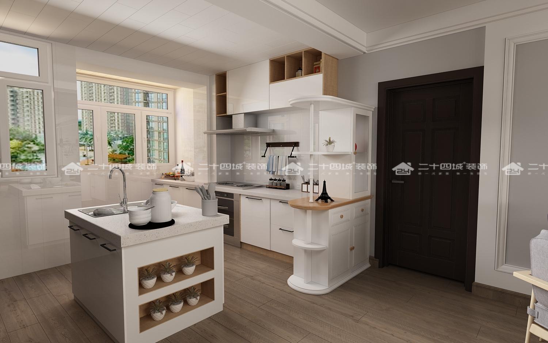 北欧 清新北欧 温馨 舒适 简约 小资 白领 混搭 欧式 厨房图片来自二十四城装饰(集团)昆明公司在新时代广场  北欧风的分享