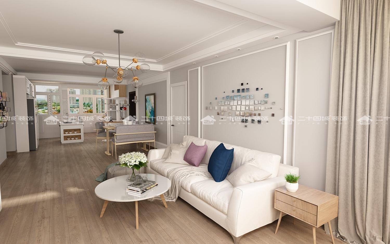 北欧 清新北欧 温馨 舒适 简约 小资 白领 混搭 欧式 客厅图片来自二十四城装饰(集团)昆明公司在新时代广场  北欧风的分享