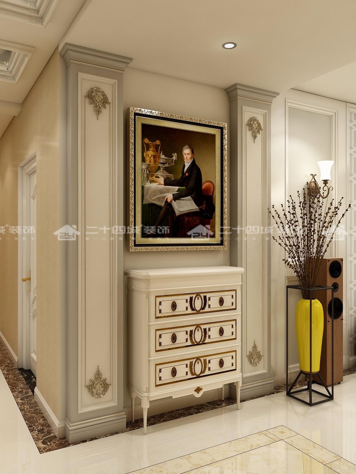 简欧 简约 欧式 收纳 白领 80后 小资 旧房改造 混搭 玄关图片来自二十四城装饰(集团)昆明公司在建工新城  简欧的分享