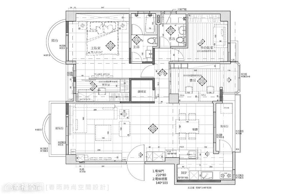 装修设计 装修完成 休闲多元 标准格局 户型图图片来自幸福空间在112平,自然清爽,都会Light宅的分享