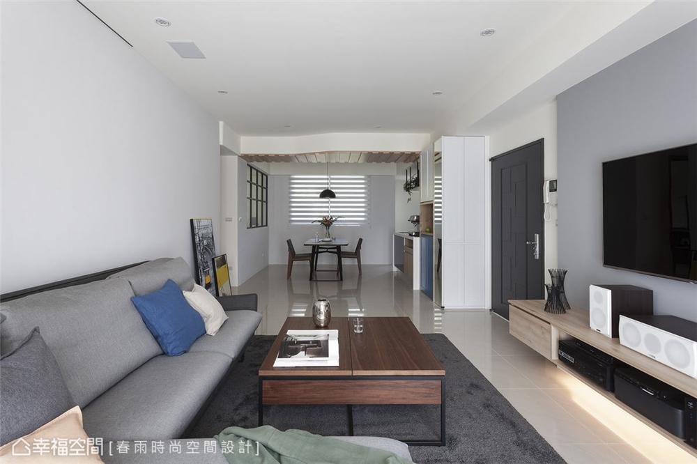 装修设计 装修完成 休闲多元 标准格局 客厅图片来自幸福空间在112平,自然清爽,都会Light宅的分享