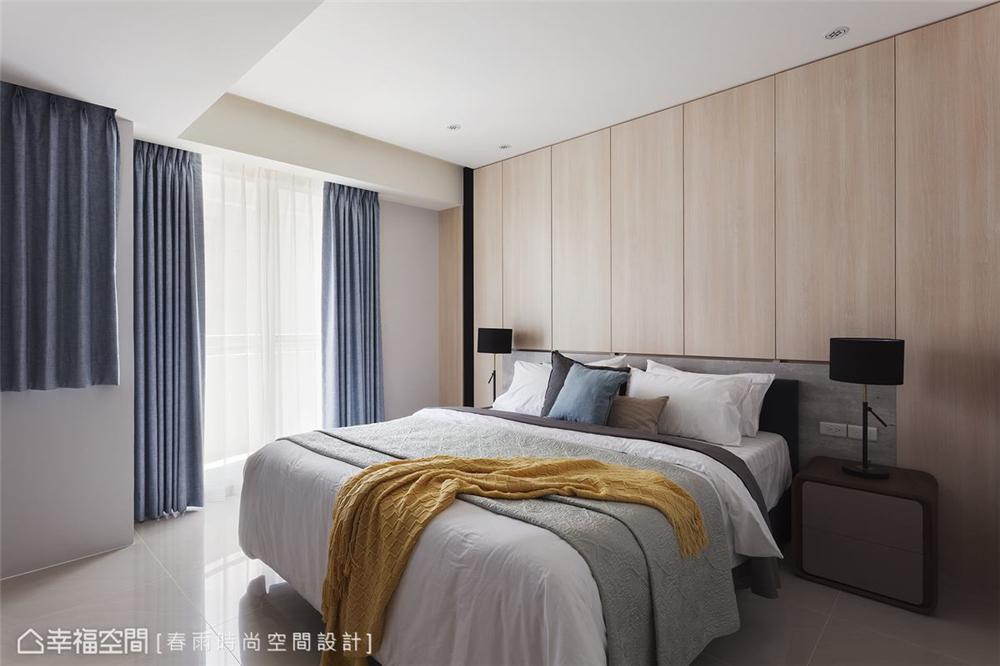 装修设计 装修完成 休闲多元 标准格局 卧室图片来自幸福空间在112平,自然清爽,都会Light宅的分享