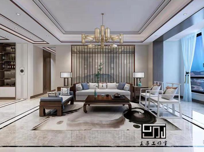 客厅图片来自沈阳百家装饰小姜在碧桂园名门200平别墅港式风格的分享