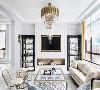 居家优雅  探进室内的斜阳漫入一室温暖和煦,在线条极简的品味家俱衬托下,构筑一幅美式优雅居家风情。