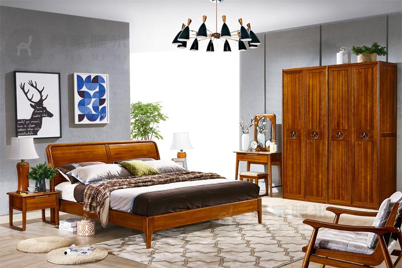 卧室 实木家具 金丝檀木床图片来自浙江阿家咪米在哪一种材质的实木家具床比较好?的分享
