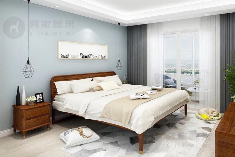 卧室 实木家具 乌金木床图片来自浙江阿家咪米在哪一种材质的实木家具床比较好?的分享