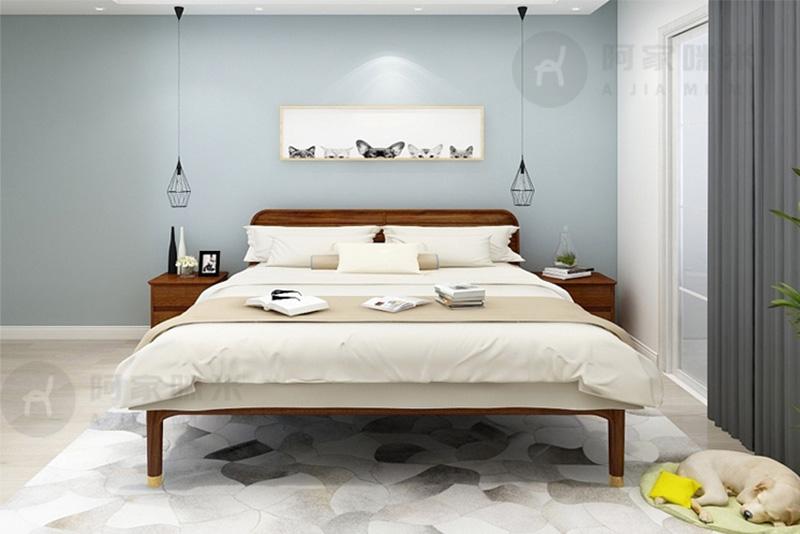 卧室 乌金木床 实木家具图片来自浙江阿家咪米在哪一种材质的实木家具床比较好?的分享