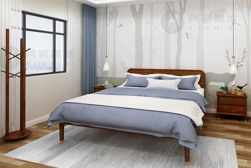 卧室 卧室实木床图片来自浙江阿家咪米在哪一种材质的实木家具床比较好?的分享