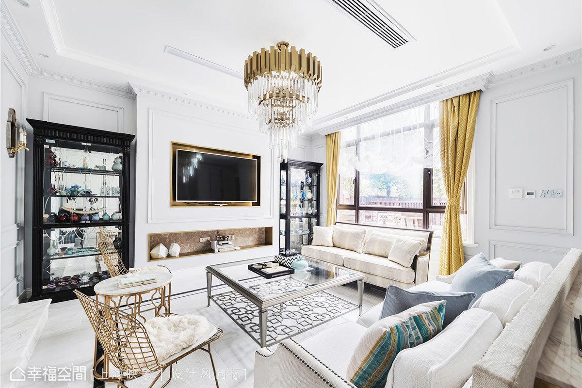 上海映象 幸福空间 美式 别墅 小资 装修设计 上海装修 星啊 陈子欣 客厅图片来自幸福空间在450㎡贇淡風清 中西并蓄淡雅风韵的分享