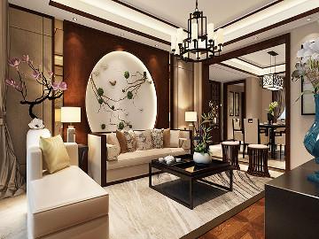 青浦中骏雍景湾别墅中式风格设计