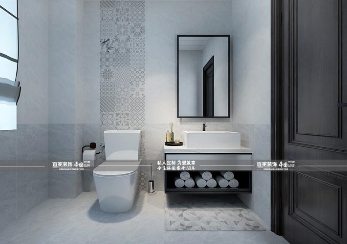 三居 奥园国际 后现代风格 卫生间图片来自百家设计小刘在奥园国际125平后现代风的分享