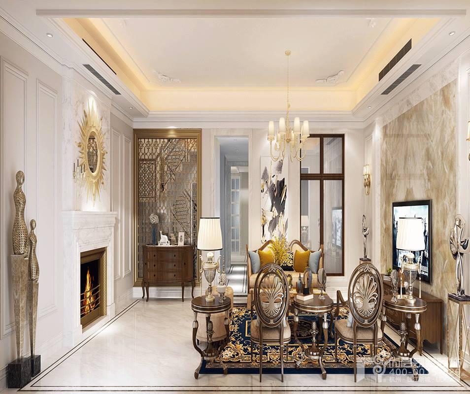 杭州 尚层 装饰 客厅 卧室 别墅图片来自别墅装修达人在别墅装修案例1的分享
