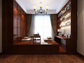 中式 中式装修 四居 西安装修 装修效果图 书房图片来自西安城市人家装饰王凯在普华浅水湾200平米新中式风格的分享