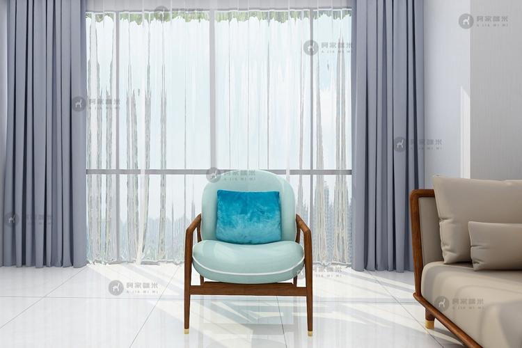 客厅 北欧休闲椅 实木家具图片来自浙江阿家咪米在北欧乌金木家具装修效果图的分享