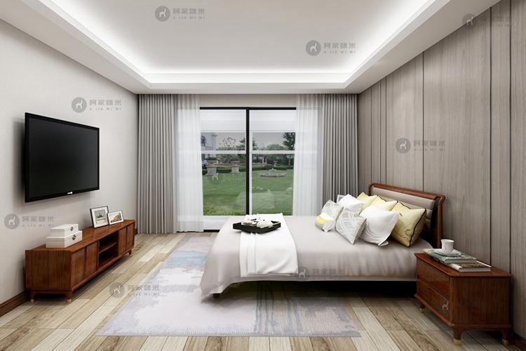 卧室 实木家具 北欧卧室图片来自浙江阿家咪米在北欧乌金木家具装修效果图的分享