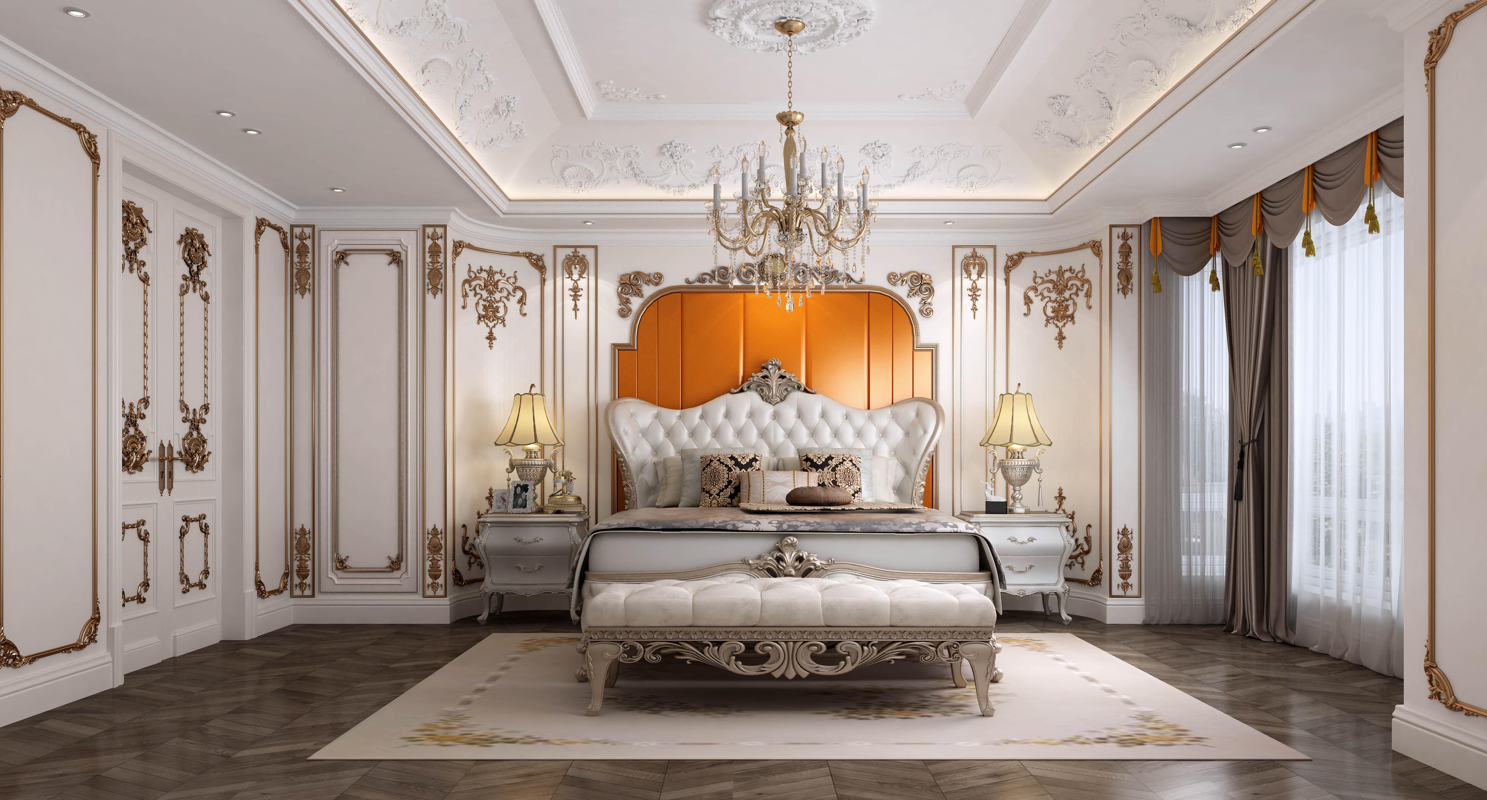 欧式 别墅 客厅 卧室 餐厅图片来自品清别墅装修在世纪锦园的分享