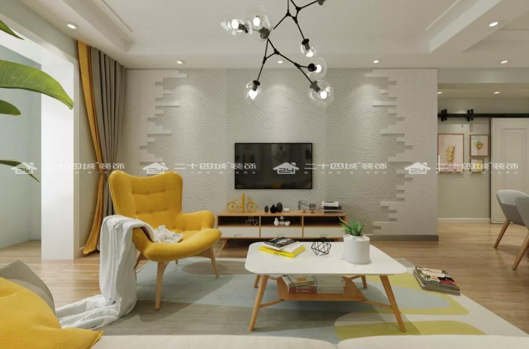 简欧 简约 欧式 混搭 白领 温馨 小资 90后 收纳 客厅图片来自二十四城装饰(集团)昆明公司在盛唐城  简欧的分享