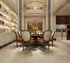 餐厅设置在开阔的地带,一眼就能望到二楼的景象,欧式的浮雕走线,金黄色和棕色的配饰衬托出古典家具的高贵与优雅,不经意间透露着贵气。