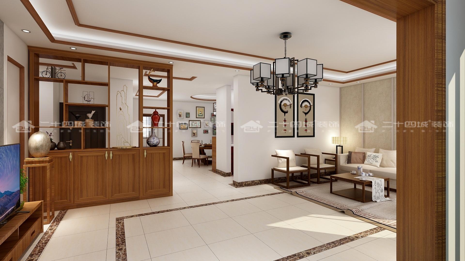 中式 中式古韵 传统 温馨 新中式 新中式古典 舒适 小资 混搭 客厅图片来自二十四城装饰(集团)昆明公司在斗南花田国际  中式的分享
