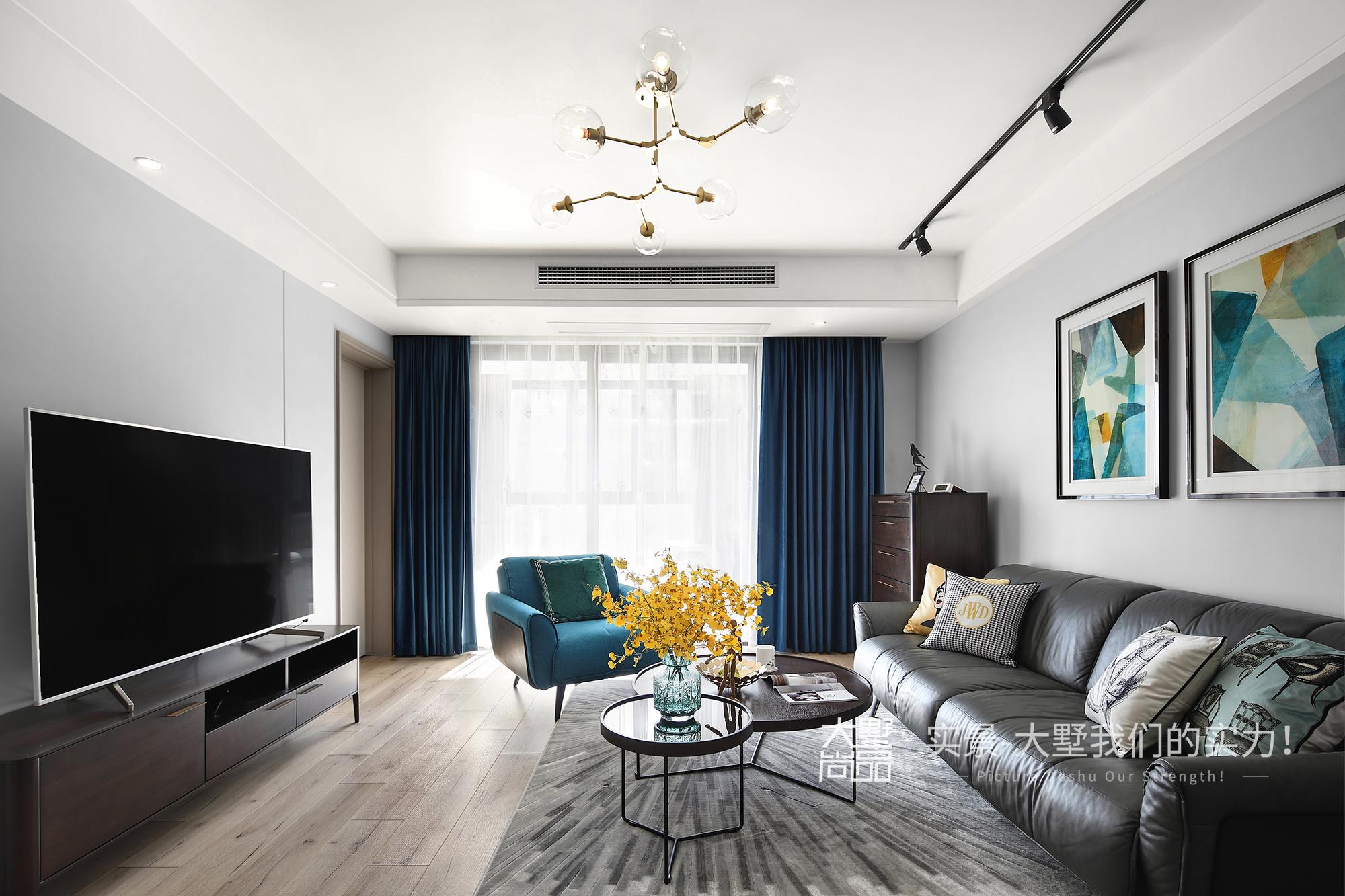 客厅图片来自大墅尚品-由伟壮设计在125㎡盐系北欧丨爱很简单的分享