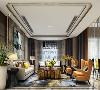 客厅的色彩搭配同样以素色背景为主,以高纯度色彩的软装产生对比,增加视觉效果,客厅软装摆放相对整齐,以体现出客厅的正式感。