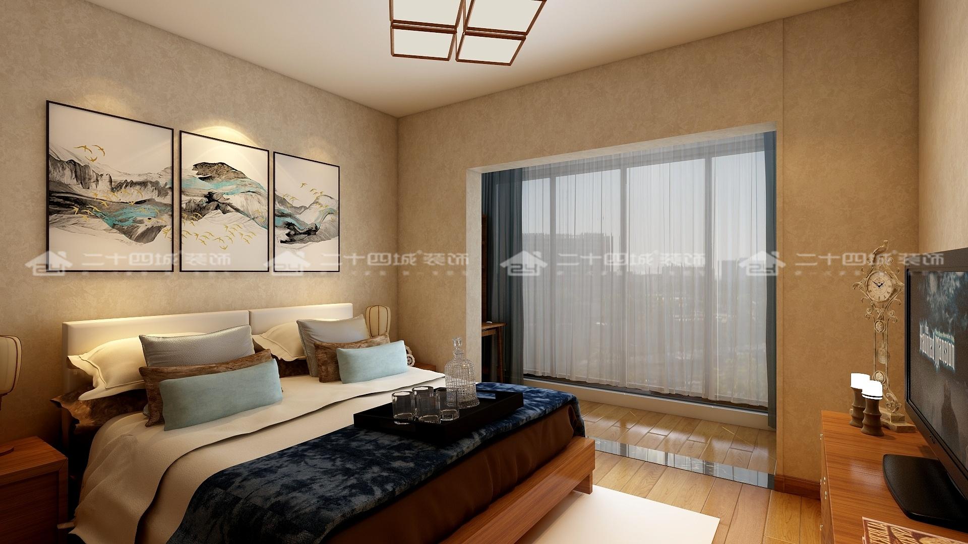 中式 中式古韵 传统 温馨 新中式 新中式古典 舒适 小资 混搭 卧室图片来自二十四城装饰(集团)昆明公司在斗南花田国际  中式的分享