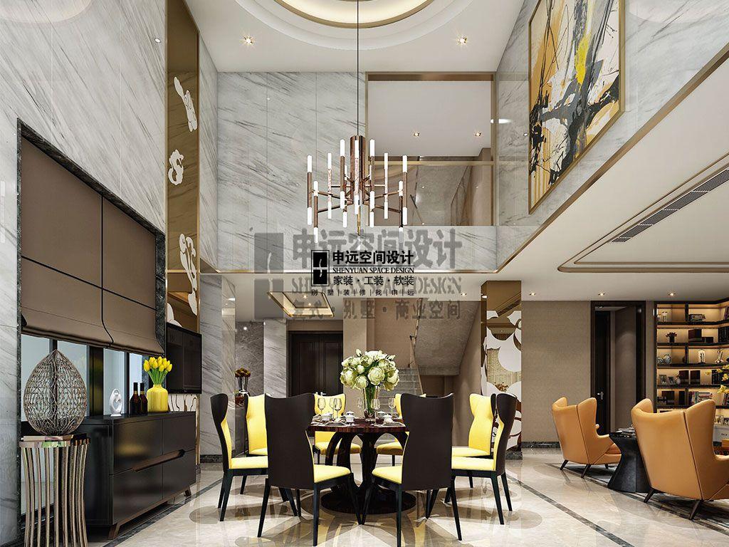 简约 别墅 现代 餐厅图片来自申远空间设计北京分公司在别墅装修设计-现代风格的分享