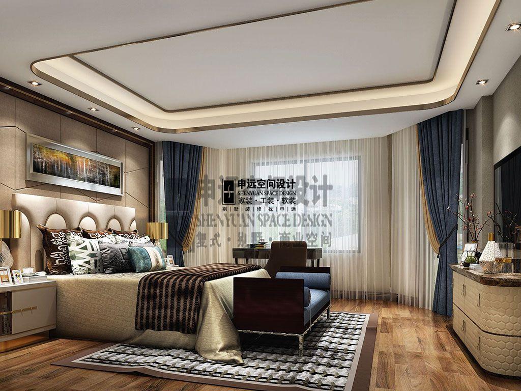 简约 别墅 现代 卧室图片来自申远空间设计北京分公司在别墅装修设计-现代风格的分享