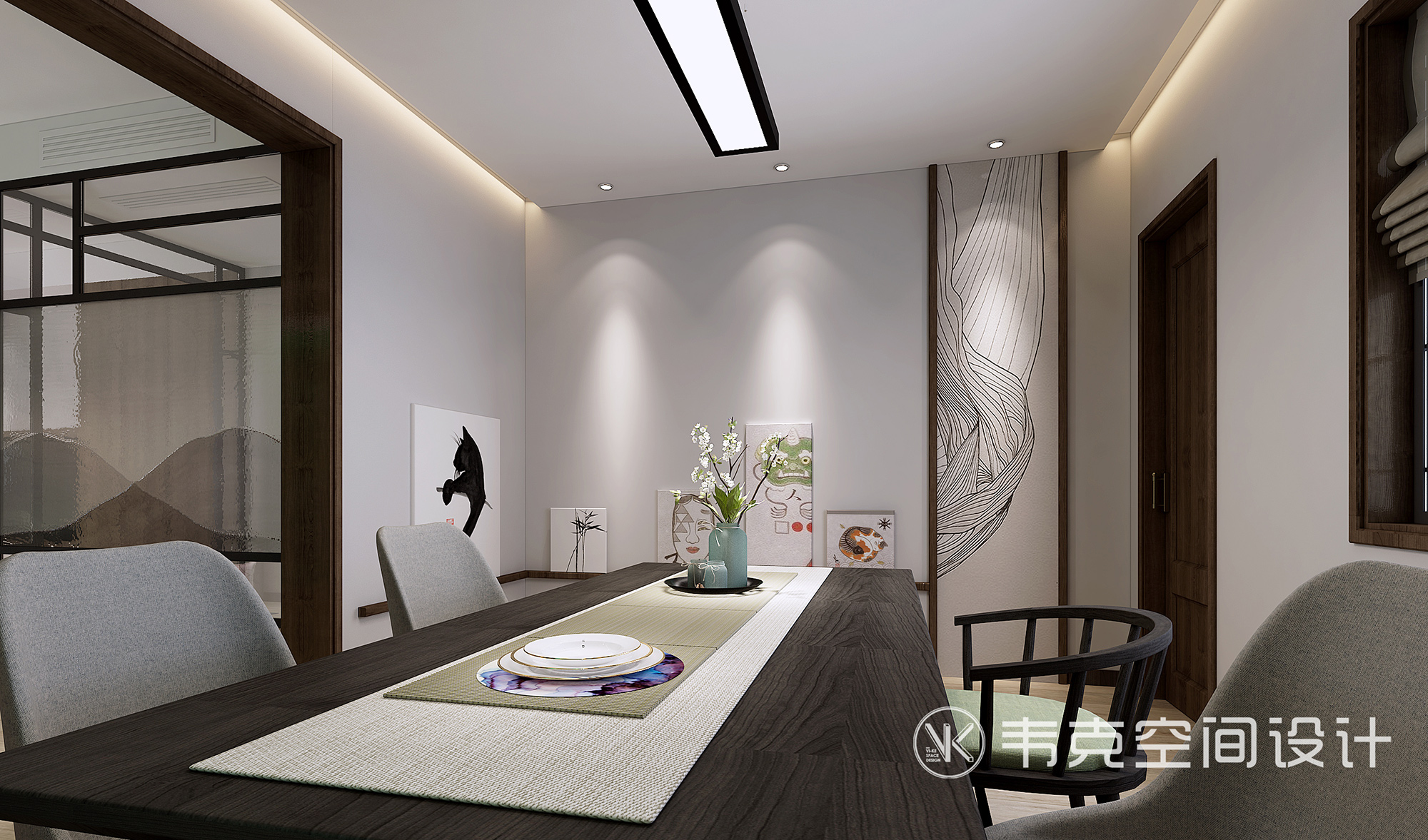 餐厅图片来自韦克空间设计在品味从容,写意的时光填满生活的分享