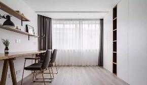 北欧 翻新 简约 全包 全案设计 书房图片来自鹏友百年装饰在灰蓝色北欧风,比高级灰还有范的分享