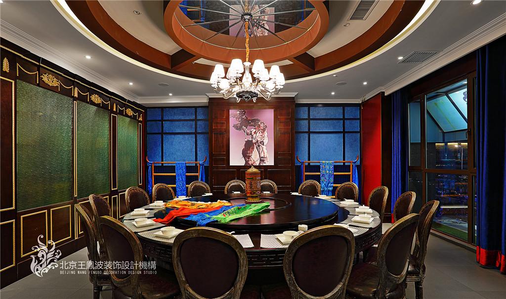 餐厅设计,图片来自王凤波设计机构在餐厅设计,斯琴阿妈蒙餐厅的分享