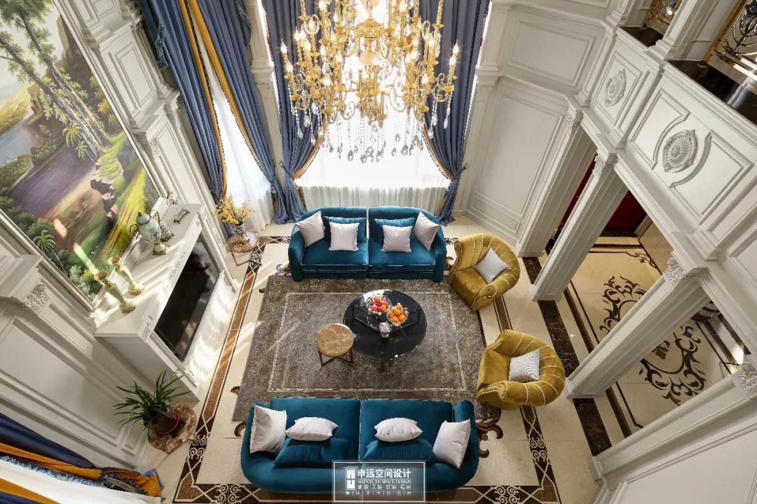 别墅 法式风格 欧式 客厅图片来自申远空间设计北京分公司在完工实景拍摄--法式风格的分享