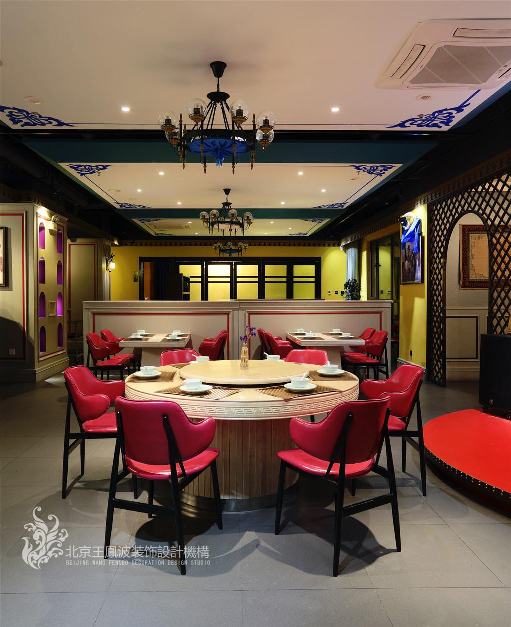 图片来自王凤波设计机构在餐厅设计,斯琴阿妈蒙餐厅的分享