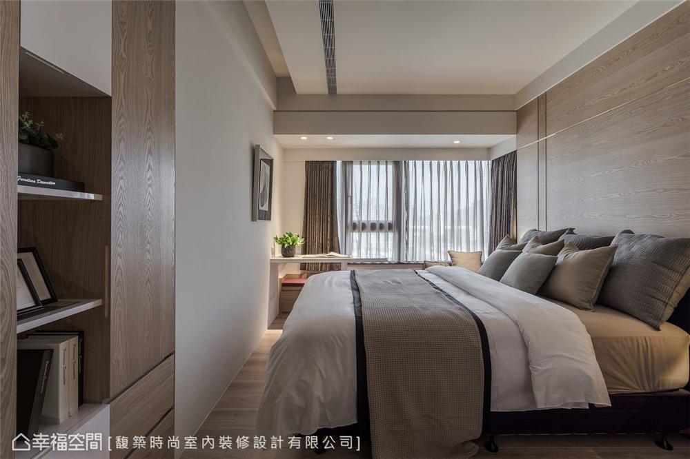 装修设计 装修完成 现代风格 卧室图片来自幸福空间在198平,精致细节 悠闲时尚机能宅的分享