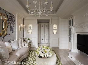 装修设计 装修完成 精品宅 新古典 玄关图片来自幸福空间在93平,复古风巴黎时尚 精品宅的分享
