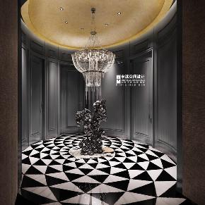 欧式 简约 别墅 简欧 玄关图片来自申远空间设计北京分公司在简约欧式-财富公馆的分享