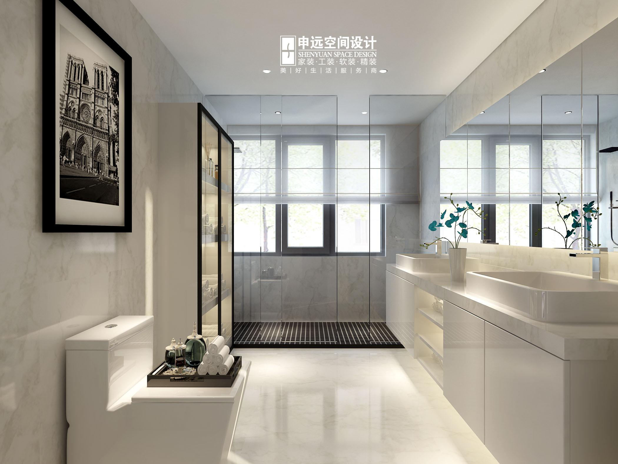 欧式 简约 别墅 简欧 卫生间图片来自申远空间设计北京分公司在简约欧式-财富公馆的分享