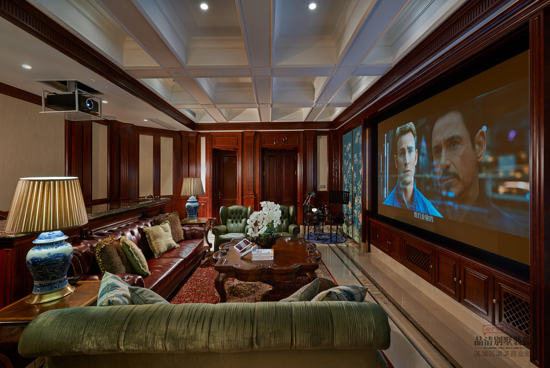 别墅 客厅 卧室 厨房 餐厅图片来自别墅装修设计师在绿城香樟园950㎡美式风实景照的分享
