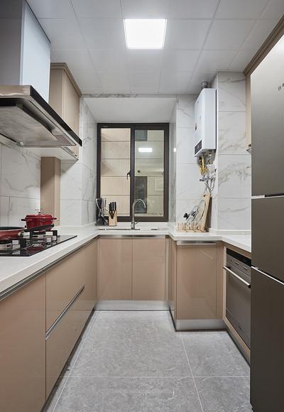 厨房图片来自家装大管家在100平现代北欧3居 简单的才是家的分享