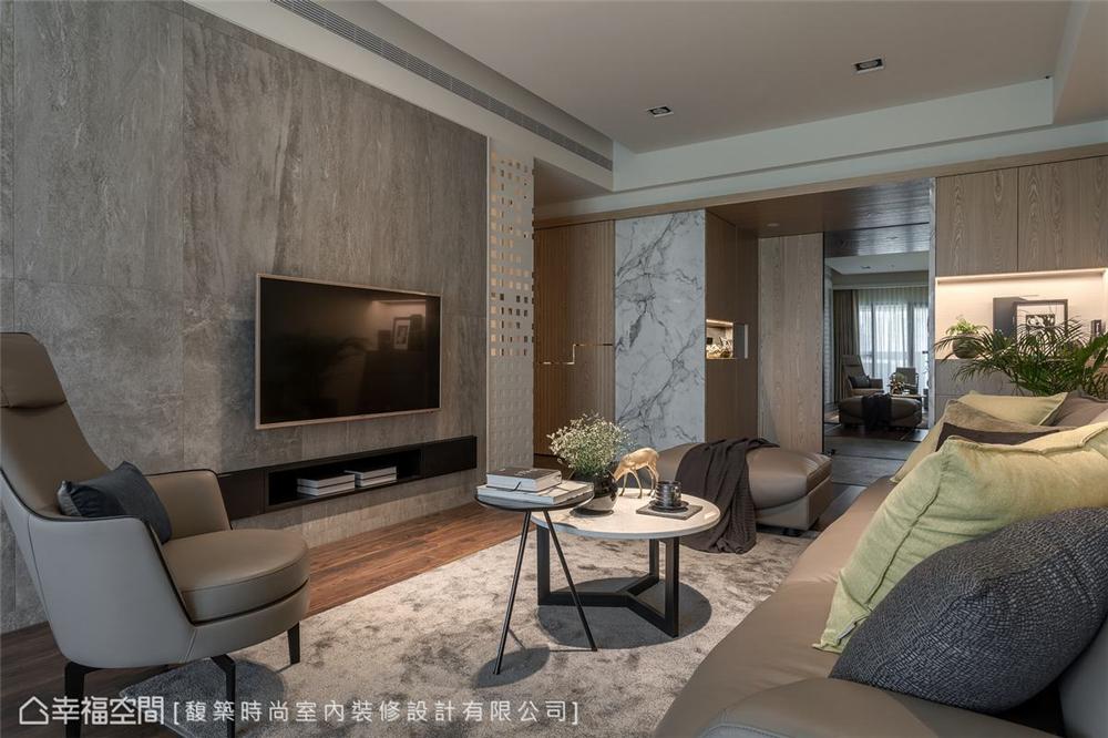 装修设计 装修完成 现代风格 客厅图片来自幸福空间在198平,精致细节 悠闲时尚机能宅的分享