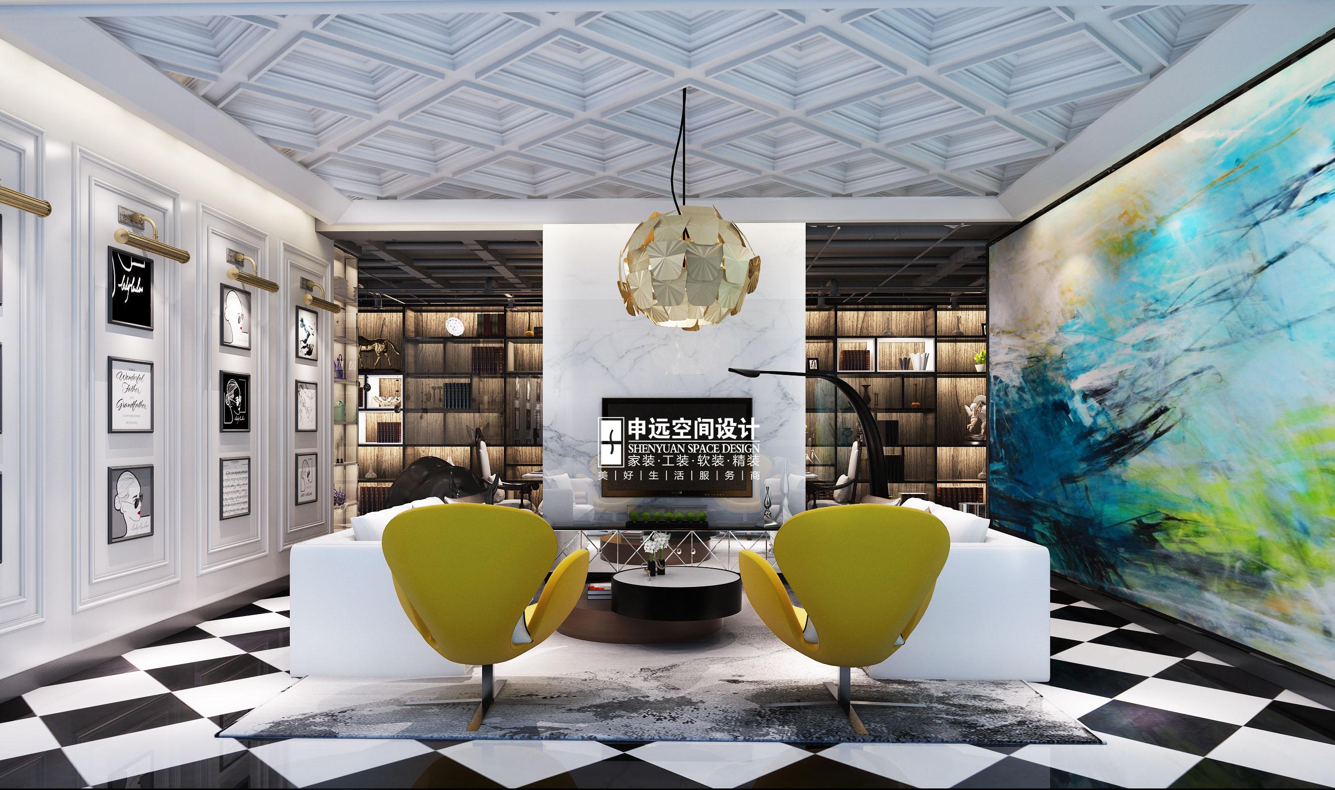 欧式 简约 别墅 简欧 客厅图片来自申远空间设计北京分公司在简约欧式-财富公馆的分享