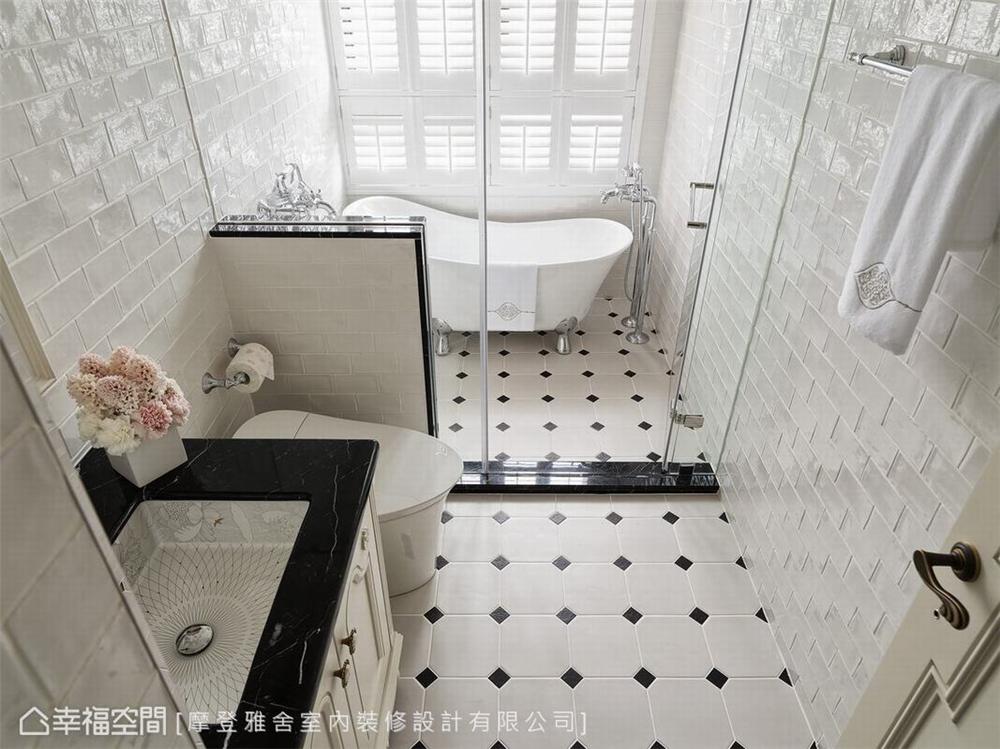 装修设计 装修完成 精品宅 新古典 卫生间图片来自幸福空间在93平,复古风巴黎时尚 精品宅的分享