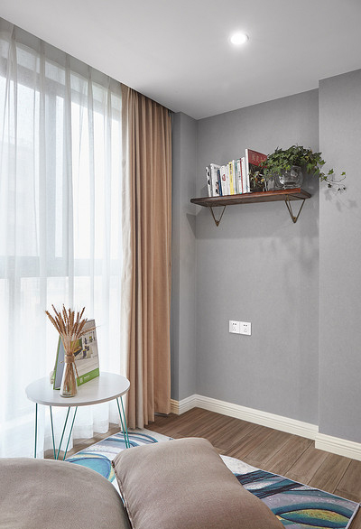 阳台图片来自家装大管家在100平现代北欧3居 简单的才是家的分享