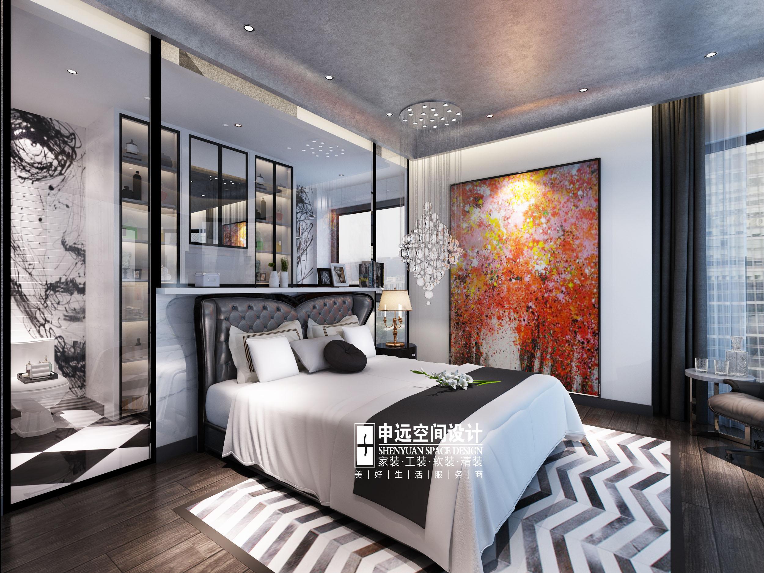 欧式 简约 别墅 简欧 卧室图片来自申远空间设计北京分公司在简约欧式-财富公馆的分享