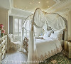主卧 主卧房内安排精致如梦境般的南瓜床铺,佐以白纱睡帘围塑梦幻优雅的卧眠环境,满足屋主对于卧室的期待。