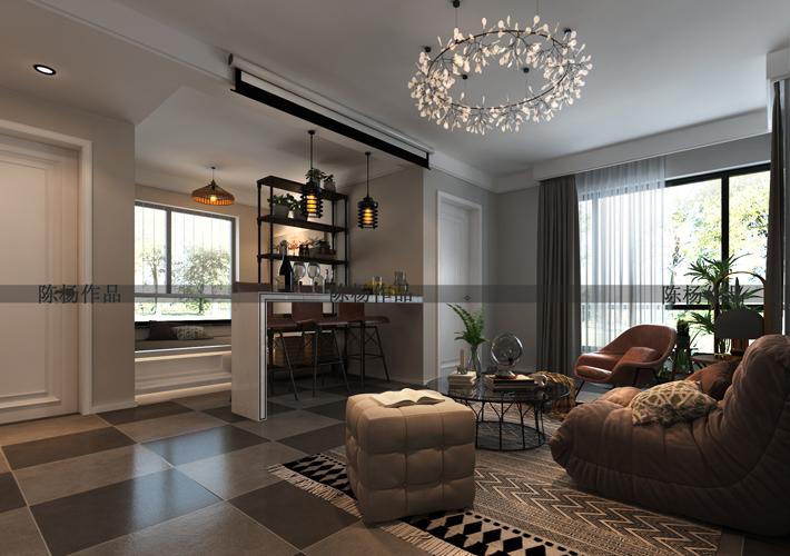 二居 翠堤湾 现代风格 客厅图片来自百家设计小刘在保利达翠堤湾79平现代风的分享