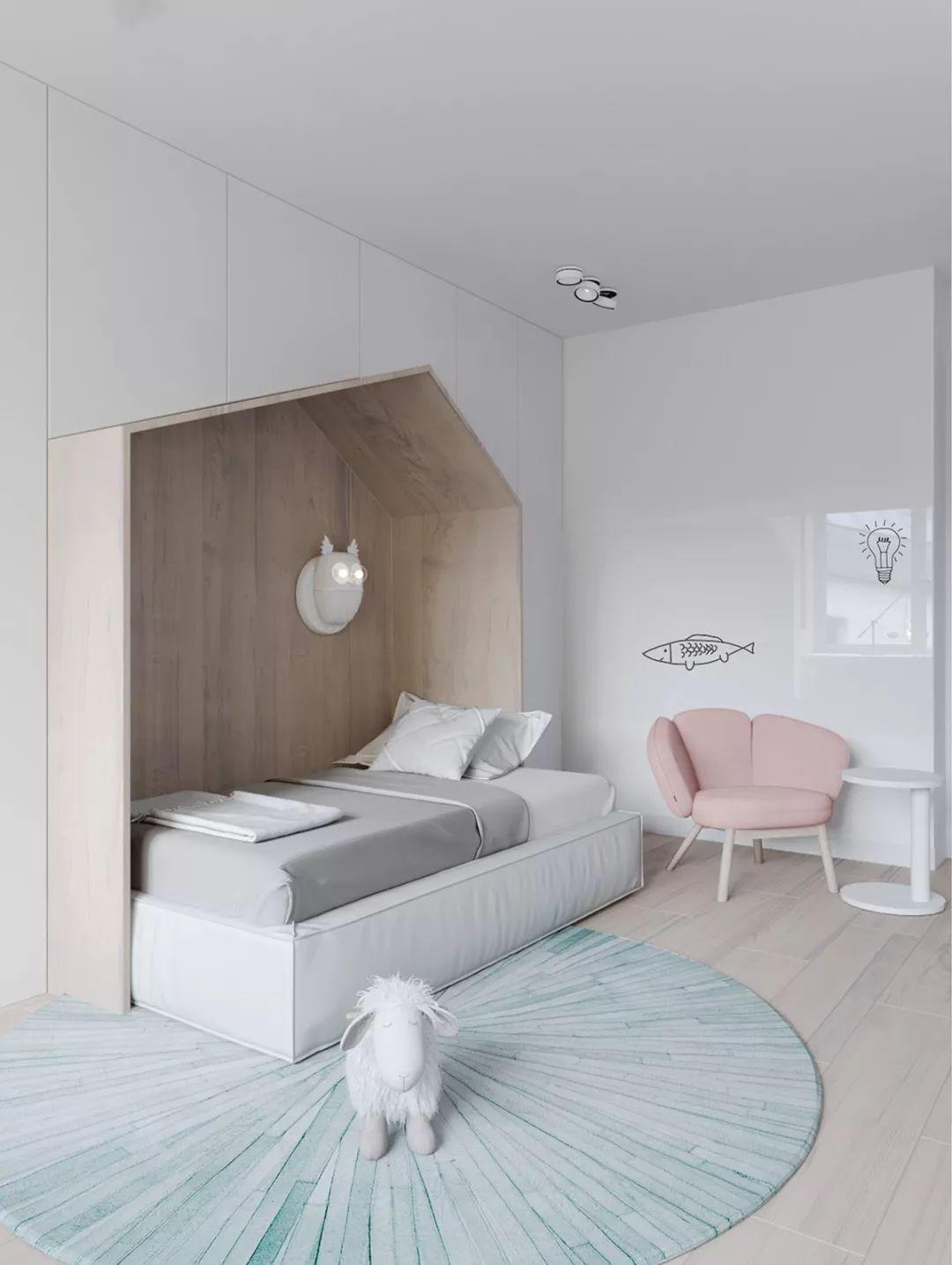 简约 现代 混搭 鹏友百年 半包 全包 全案设计 卧室图片来自鹏友百年装饰在一家三口的幸福蓝的分享